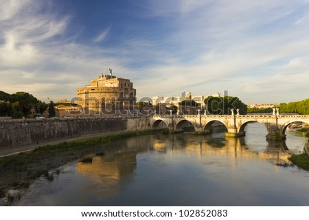 The Angel castle in Rome - stock photo