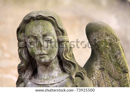 The Angel on the old Prague Cemetery, Czech Republic - stock photo