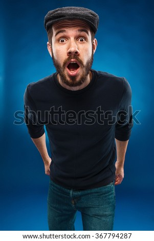 The anger and screaming man - stock photo