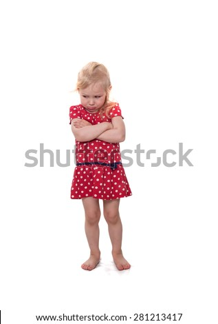 The angry girl  - stock photo
