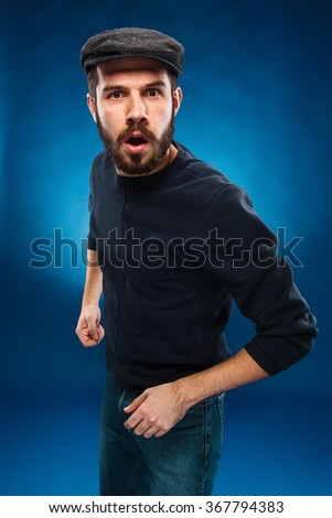 The angry young man - stock photo