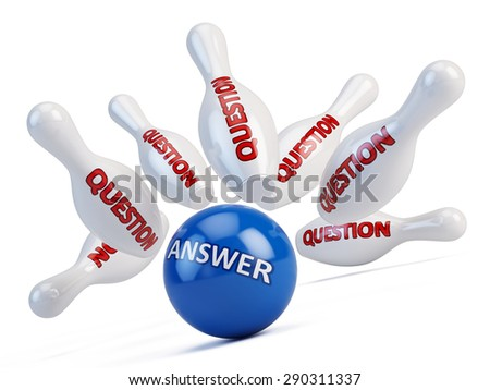 The answer to the questions concept - stock photo