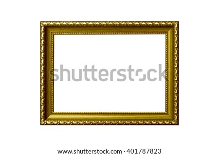 The antique gold vintage  premium isolated white background. use clipping path - stock photo