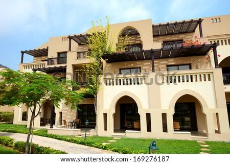 The arabic style villas  - stock photo