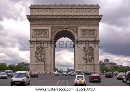 The Arc de Triomphe, Paris - stock photo