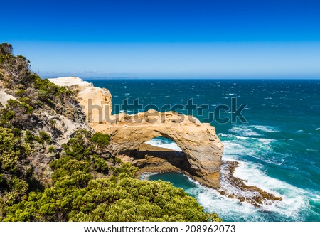 The Arch at Port Campbell National Park on the great ocean road in Victoria Australia - stock photo