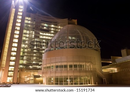 The architect was Richard Meier, designer of the Getty Center, Beverly Hills, the Barcelona Museum of Contemporary Art, Barcelona, Spain and numerous other buildings around the world. - stock photo