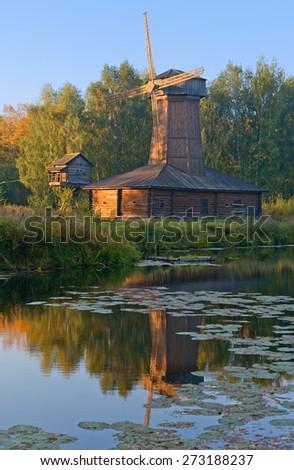 The architectural reserve in Kostroma, Russia. - stock photo