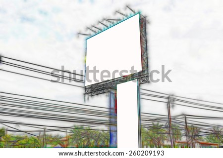 the art Blank billboard - stock photo
