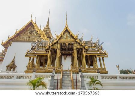 The art in Wat Phra Kaew (Temple of the Emerald Buddha), Bangkok Thailand. - stock photo