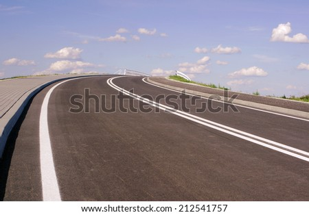 The asphalt highway to heaven, Poland   - stock photo