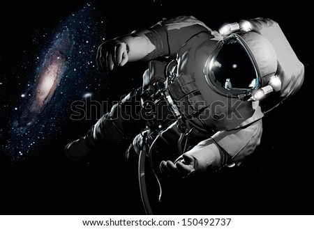 "The astronaut  in outer space""Elements of this image furnished by NASA"" - stock photo"