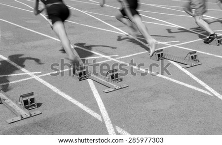 The athletics the launching instant close-up 