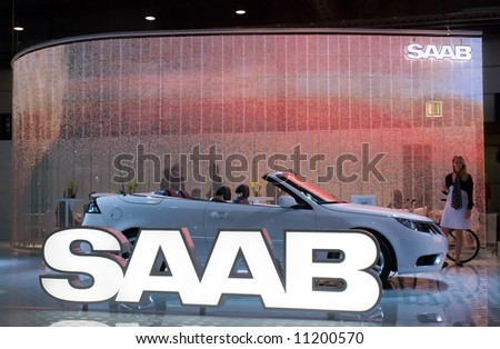 the 18. automobil international car show in leipzig east germany - stock photo