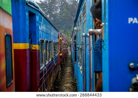 The awesome trains of Sri Lanka - stock photo