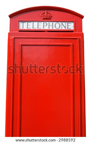 The back of an old British telephone box, with space for text. - stock photo