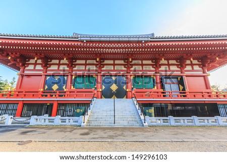 the back of sensoji temple, tokyo, japan - stock photo