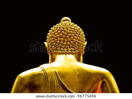 The back of the Buddha statue. - stock photo