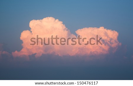 The background of the sky with clouds - stock photo