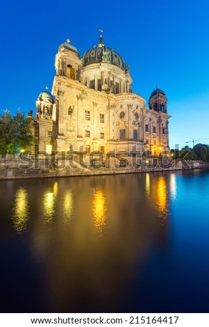 The backside of the Dom in Berlin at dawn - stock photo