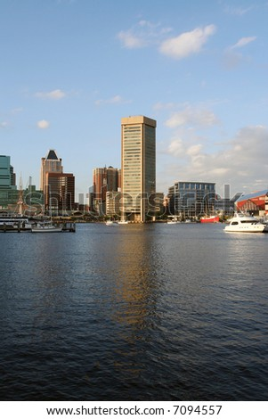 The Baltimore Inner Harbor - stock photo
