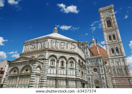 The Basilica di Santa Maria del Fiore in Florencia, Italia. - stock photo