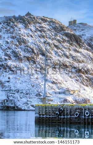 The Battery, St. John's, Newfoundland - stock photo