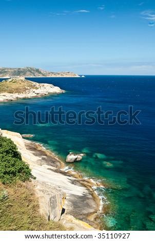 the bay of Calvi in Corsica - stock photo