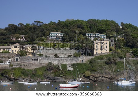 the bay of Sestri Levante - stock photo