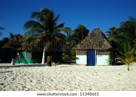The beach hut - stock photo