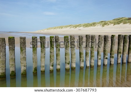 The beach of Haamstede in the province of Zeeland, the Netherlands - stock photo