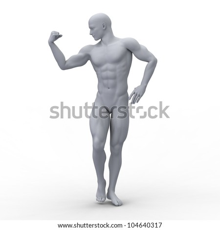 The beautiful and strong bodybuilder - stock photo