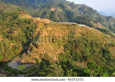 The beautiful Banaue Rice Terraces in Ifugao, Northern Luzon, Philippines. - stock photo