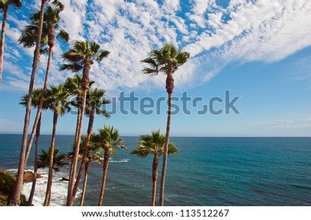 The Beautiful California Coast in a Late Summer Afternoon - stock photo