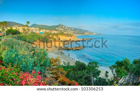 The Beautiful California Coast in the Last Summer Afternoon - stock photo