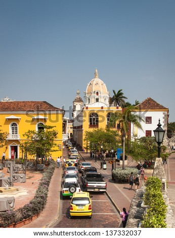 The beautiful city of Cartagene, Colombia - stock photo