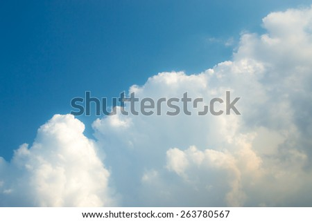 The beautiful cloud in the blue sky - stock photo