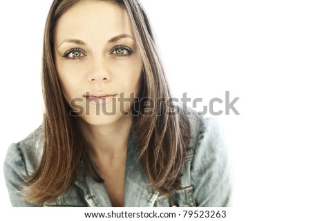 The beautiful girl with expressive eyes - stock photo