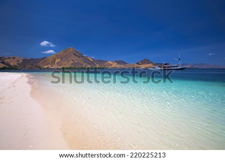 The beautiful nature of Komodo national park - stock photo