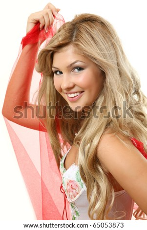 The beautiful smiling woman - stock photo