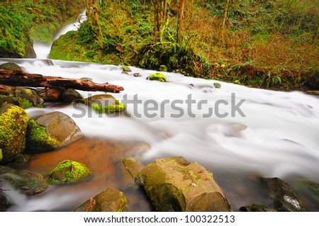 The beautiful view Bridal view Falls - stock photo
