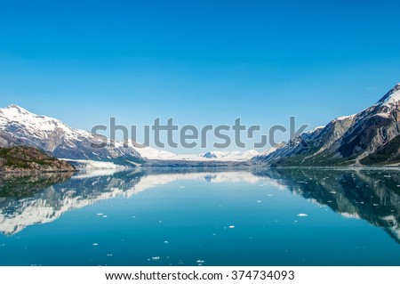 The Beauty of Alaska | Alaska: Beautiful sunny morning in Glacier Bay. Glacier Bay National Park and Preserve, Alaska, United States - stock photo
