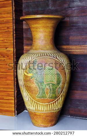 The beauty of antique vase. - stock photo