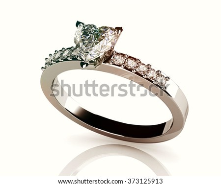 The beauty wedding ring (high resolution 3D image) - stock photo