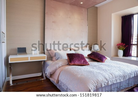 the bedroom with nice decoration - stock photo
