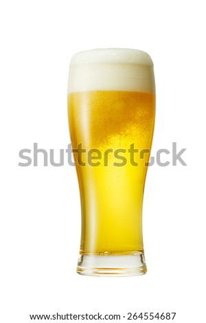 the beer isolated on white - stock photo