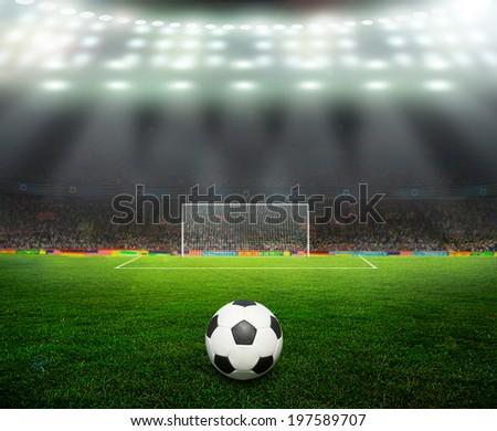 the beginning of a football match  - stock photo