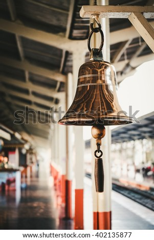 The bell signals - stock photo