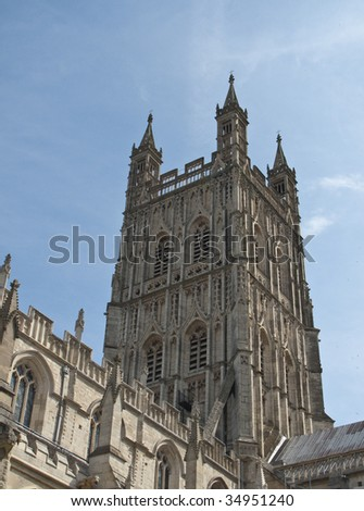 The Bell Tower of Gloucester Cathedral, Gloucestershire, England - stock photo