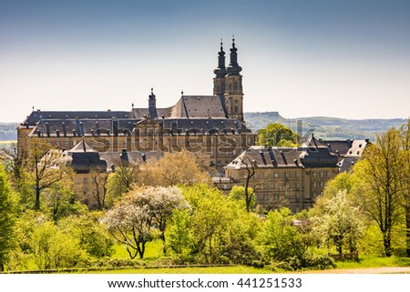 The Benedictine Monatery Banz Abbey (Kloster Banz) in Franconia, Germany - stock photo